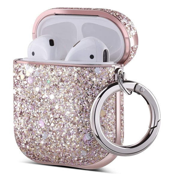 Pink Glitter Shockproof Protective AirPod Case